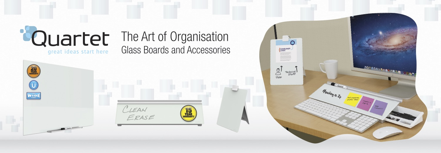 Quartet - The Art of Organization, Glass Boards and Accessories